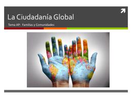 La Ciudadanía Global