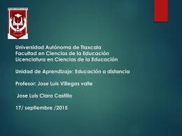 Jose Luis Clara Castillo 17/ septiembre /2015