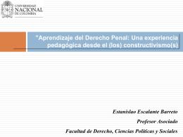 Descubrimientos en el derecho - Universidad Nacional de Colombia