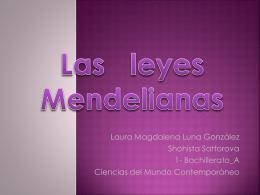 Las Leyes Mendelianas - Página web de Lorenzo