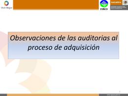 Observaciones Proceso Adquisiciones
