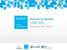 Slide 1 - Sumar - Santiago del Estero
