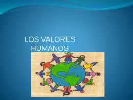VALORES HUMANOS - tic-uso