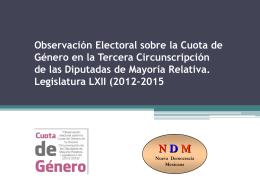 Observación Electoral sobre la Cuota de Género en la Tercera