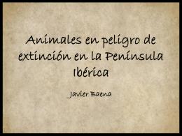 Animales en peligro de extinción de la Península