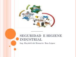 SEGURIDAD E HIGUIENE INDUSTRIAL
