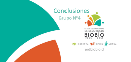 Resumen taller 4 - Estrategia Regional de Desarrollo Biobío