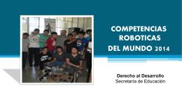 Iniciativas exitosas en robótica.