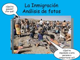 La Inmigracion Analisis de Fotos