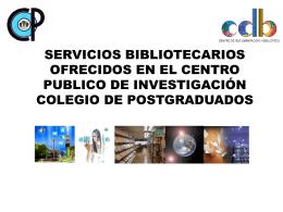 CDB inf. Tabasco - Colegio de Postgraduados