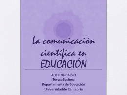 La comunicación científica en EDUCACIÓN