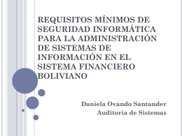 requisitos minimos de seguridad
