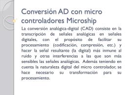 Conversión AD con micro controladores Microship