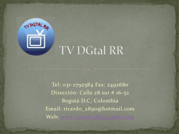 Descarga - TV DGtal RR