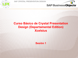 Crystal Presentation Design Sesion 1
