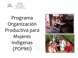 Programa acciones para la Igualdad de Género (PAIGPI)