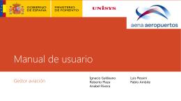 Manual de usuario Gestor aviación Ignacio Galdeano Luis Pessini