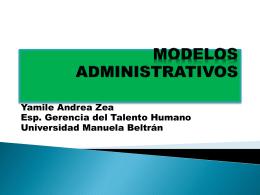 MODELOS ADMINISTRATIVOS - Universidad Manuela Beltrán