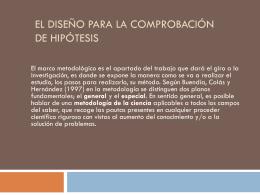 El diseño para la comprobación de hipótesis - ana-upn