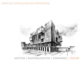 pat taller ix - x - Escuela de Arquitectura