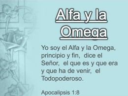 Alfa y la Omega