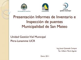 Presentación Municipalidad San Mateo