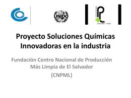 Proyecto Soluciones Químicas Innovadoras en la industria