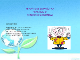 Reportede practica 1 Reacciones Quimicas