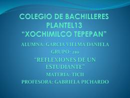 REFLEXIONES DE UN ESTUDIANTE, DANIELA GARCIA VIELMA