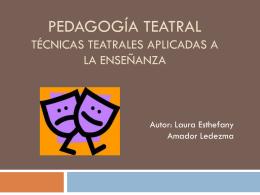 PedagogÃa Teatral - Laura Amador Ledezma