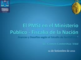 Presentación del Consejo Nacional de la Magistratura