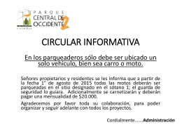 CIRCULAR INFORMATIVA - Parque central de occidente 2