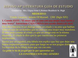 Mrs Llapur PPT on Repaso AP Literatura Guía de