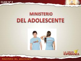 Clase N° 3 Ministerio adolescentes