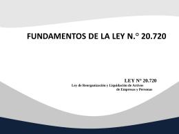 Fundamentos Ley Concursal.