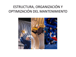 estructura, organización y optimización del