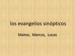 los-evangelios-sinópticos-ppt-2007