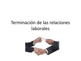 Terminación de las relaciones laborales