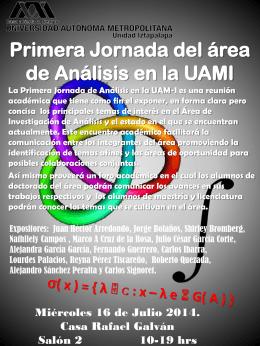 Poster Segunda Jornada del área de Análisis