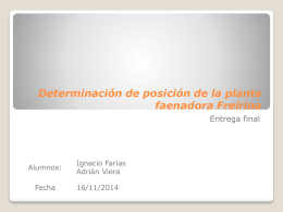 Determinación de posición de la planta faenadora Freirina - U
