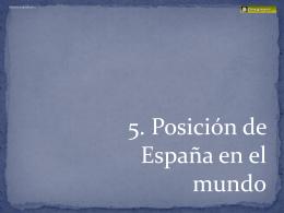 ESPAÑA EN EL MUNDO ( pptx )