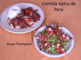 Comida típica de Peru