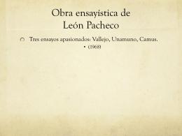 Obra ensayística de León Pacheco