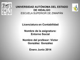 Relaciones sociológicas - Universidad Autónoma del Estado de