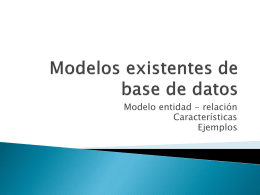 Modelos existentes de base de datos