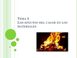 Tema 3 Los efectos del calor en los materiales