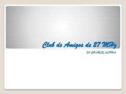 Club de Amigos de 27 MHz - FEDI-EA