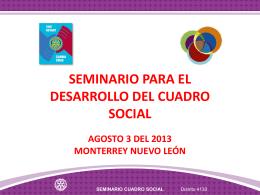 SEMINARIO CUADRO SOCIAL