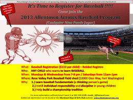 Baseball Registration ($110 per child)