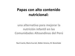 Papas con alto contenido nutricional:.